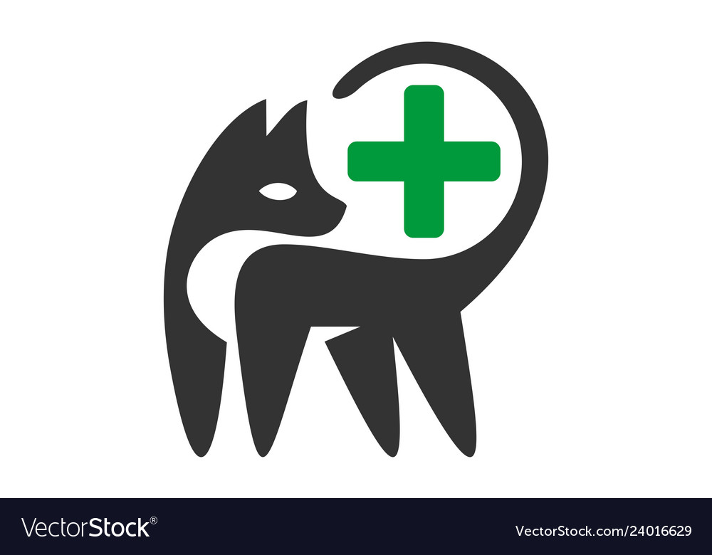 Pets clinic medical logo icon