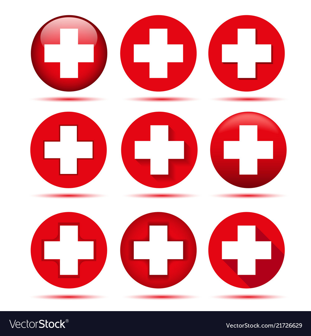 Red cross icons