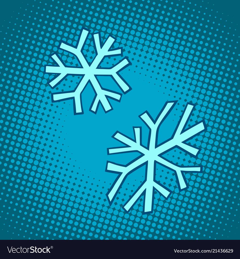 Snowflakes winter snow cold