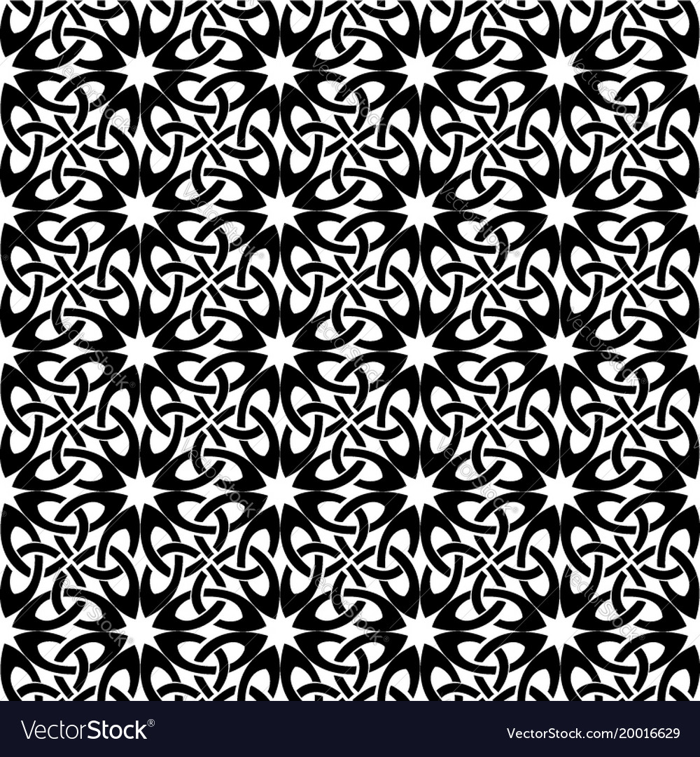 Square pattern black and white