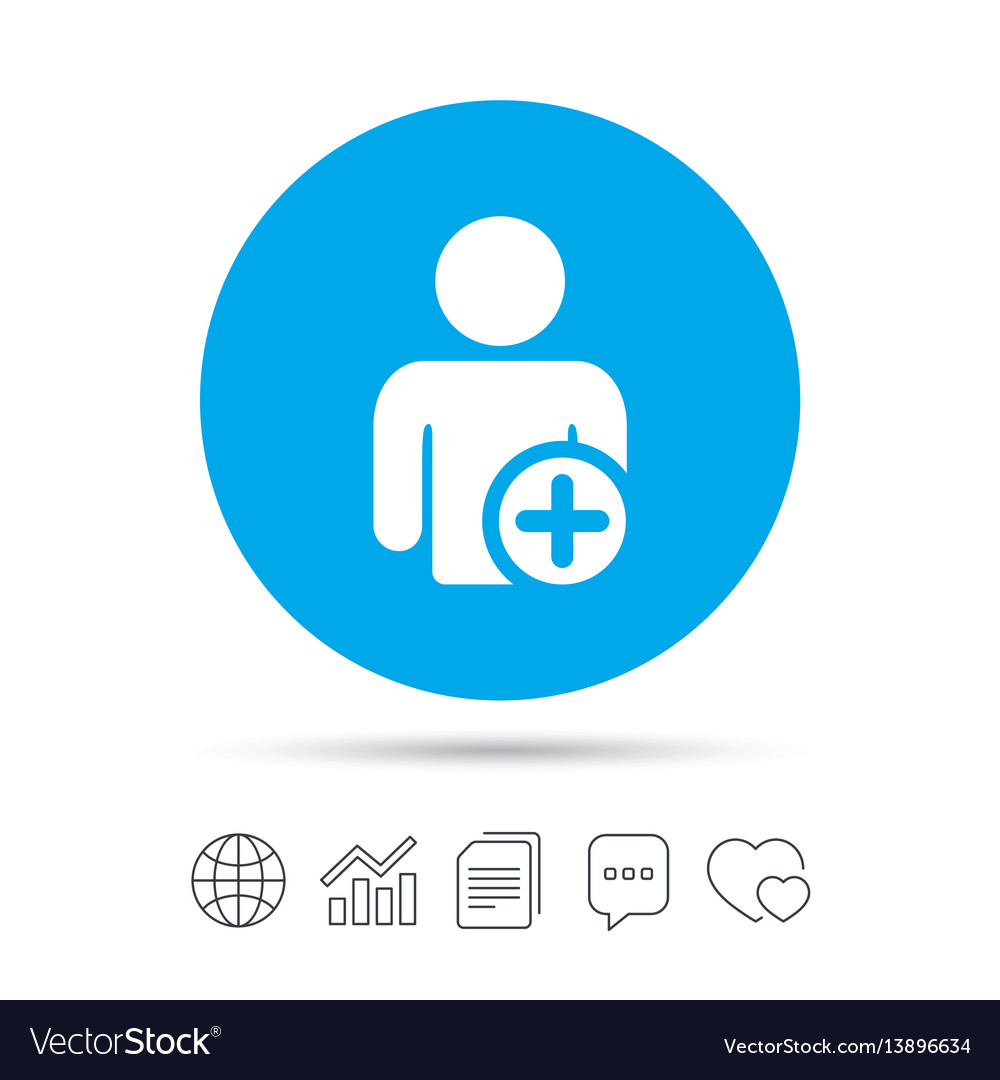 Add User Sign Icon Add Friend Symbol Royalty Free Vector