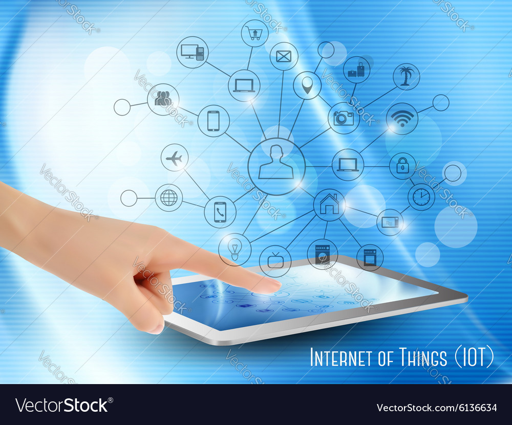 Internet of Things concept IoT Hand holding a