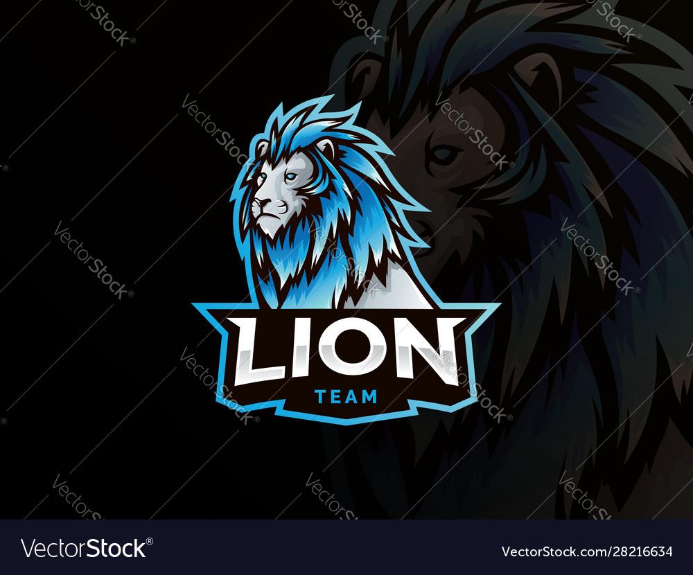 Lion mascot sport style logo