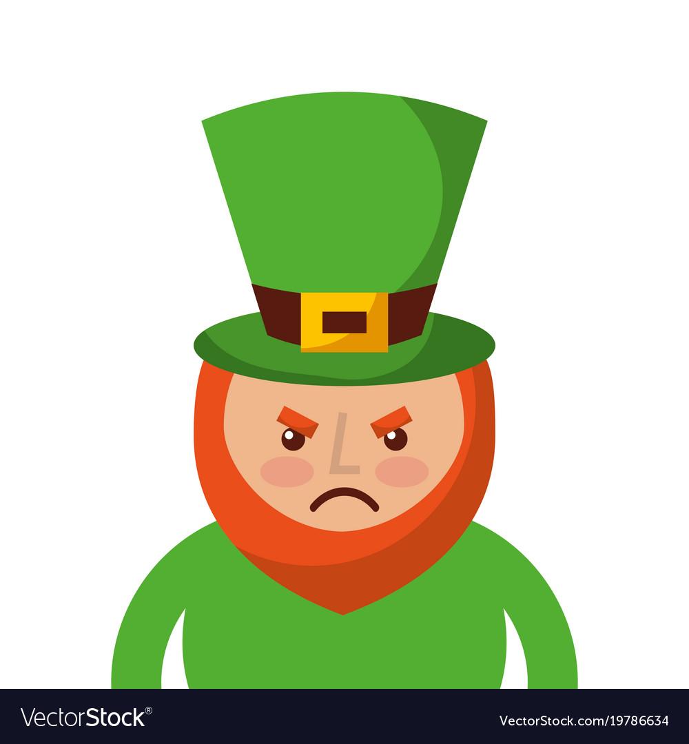 st patricks day portrait of a angry leprechaun vector image rh vectorstock com leprechaun vector graphics leprechaun vector art
