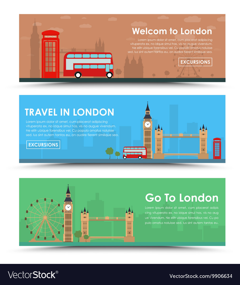 Templates banners for tourism in London
