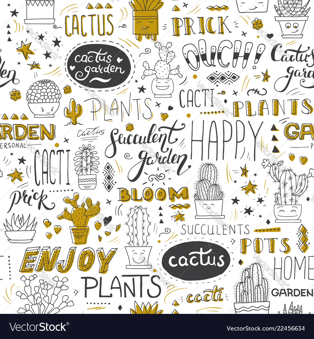 Typographical seamless pattern with