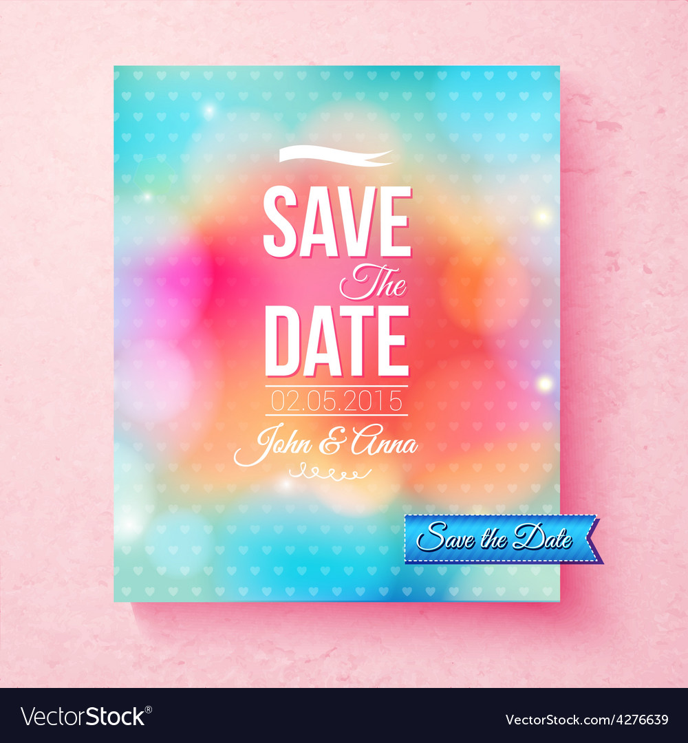 Colorful Save The Date template textured with dots