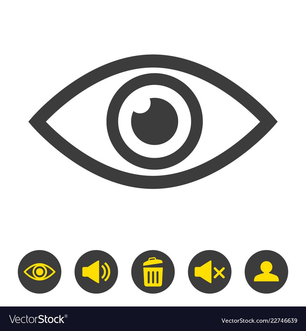 0f9f291dd7f Eye icon on white background Royalty Free Vector Image