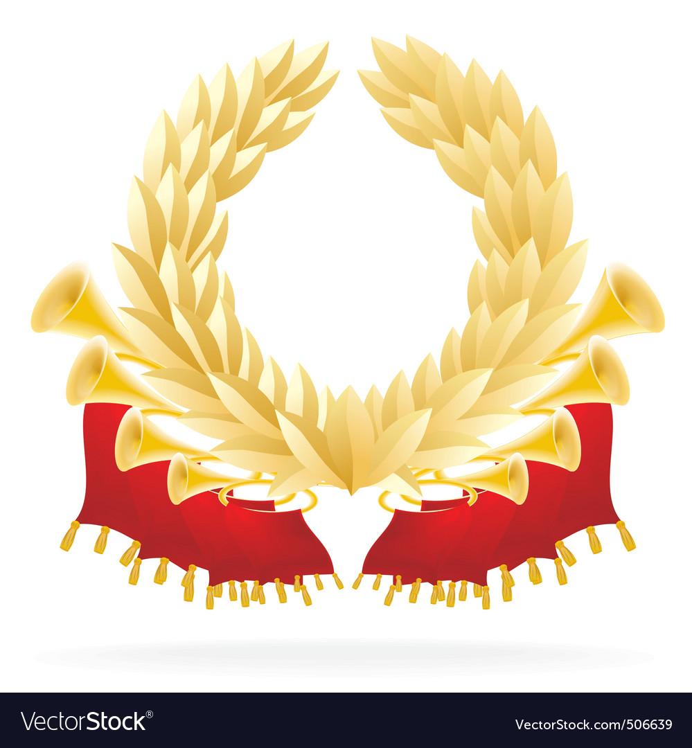 Laureate wreath vector image