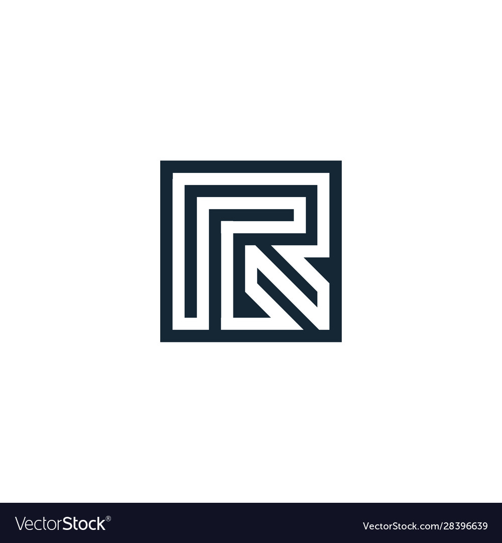 Letter r letter geometric isolated