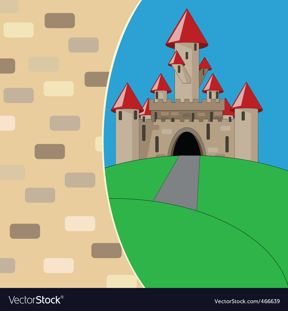 Medieval cartoon castle