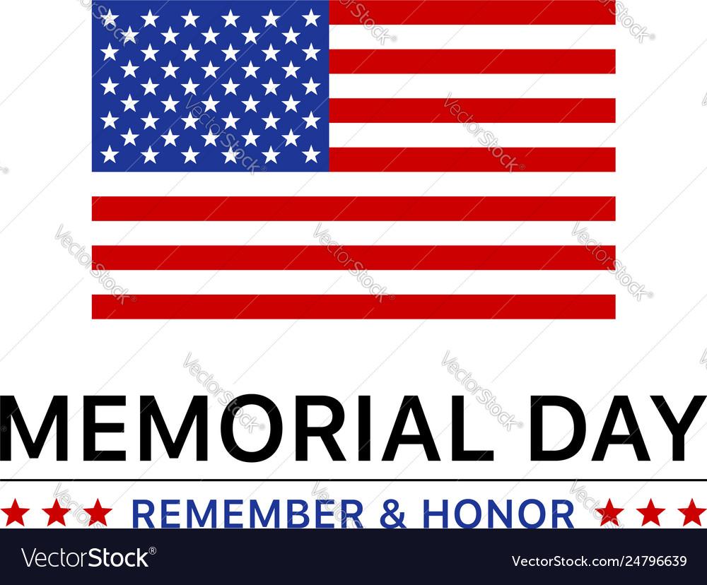 Memorial day display poster banner