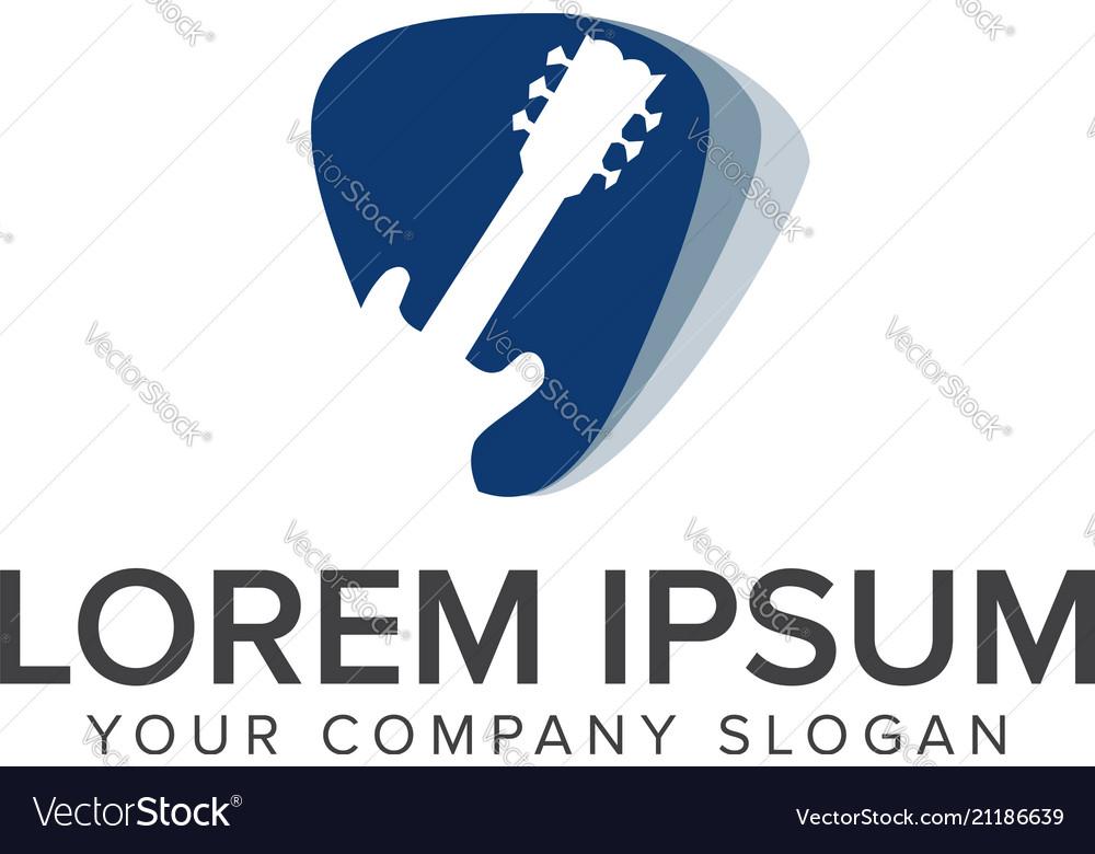Modern music logo - guitar clef symbol logo