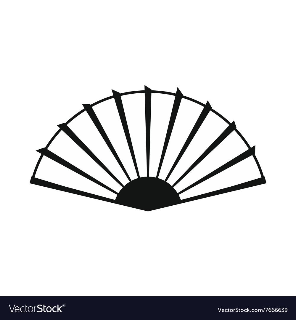 Open hand fan icon simple style