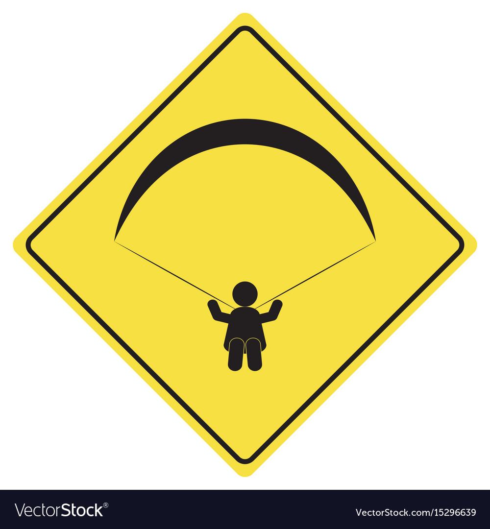 Paragliding sign symbol