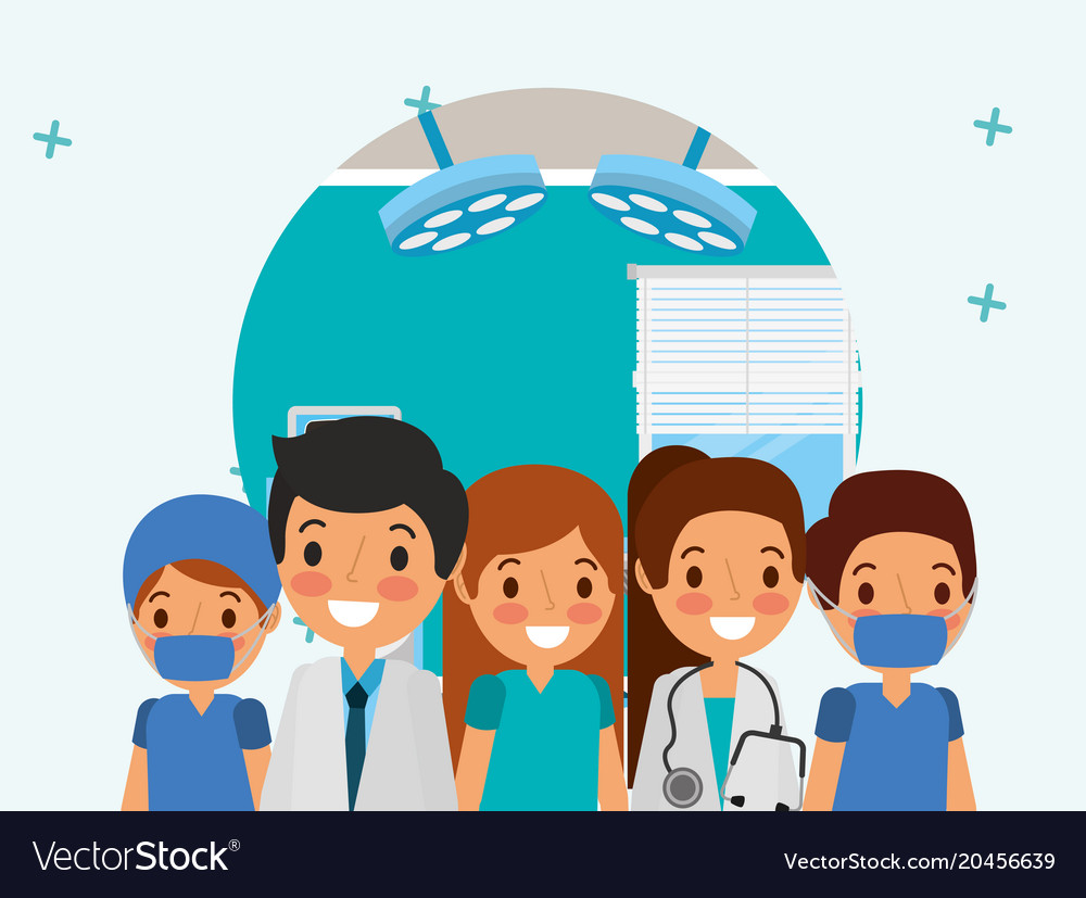 People medical healthcare vector image