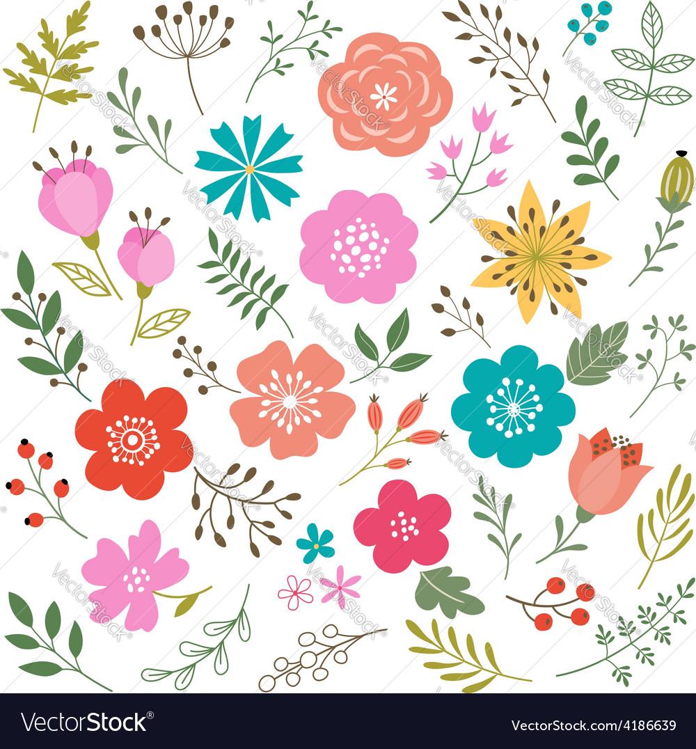 Set floral elements