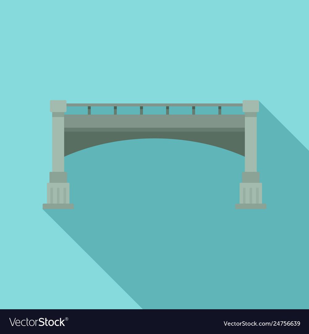 Small bridge icon flat style