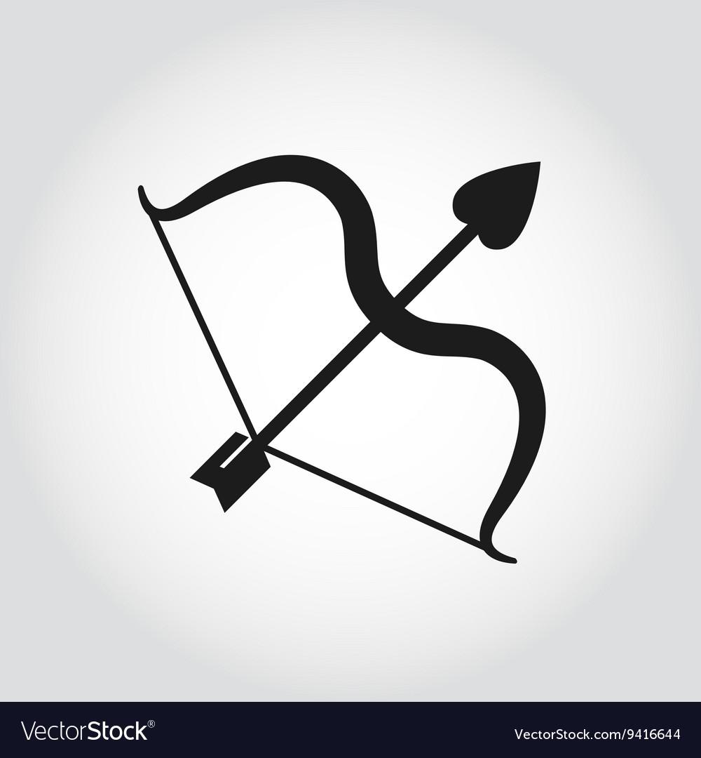 Black cupid bow icon