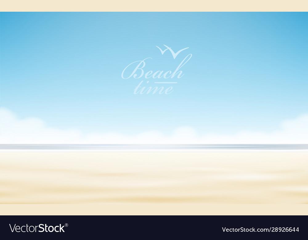 Holidays design realistic beach sunny