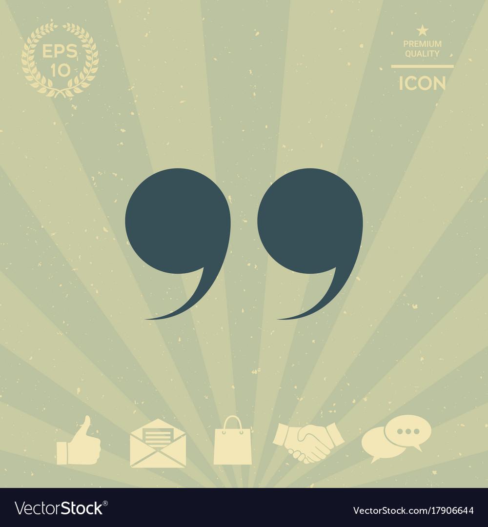 Quote symbol vector image