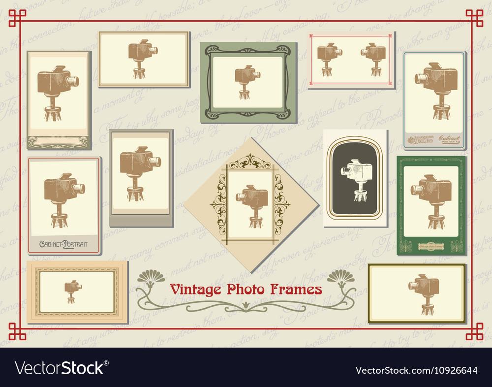 Set of vintage photo frames
