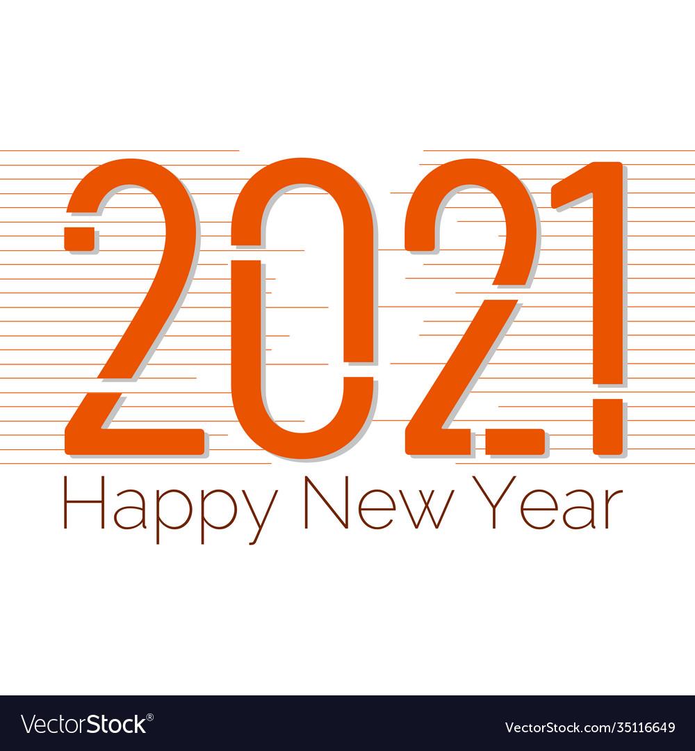 2021 happy new year banner design