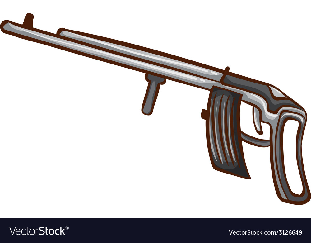 A simple sketch of a soldiers gun