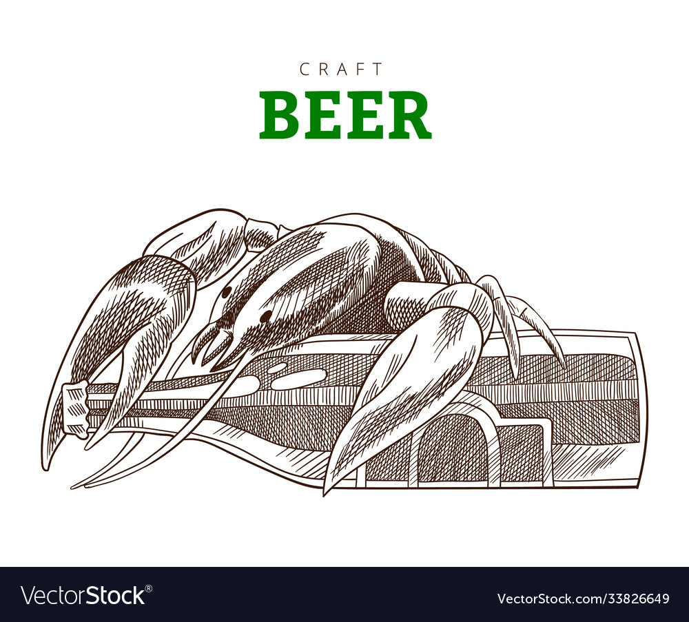 Beer bottle and cancer sitting on a bottle craft