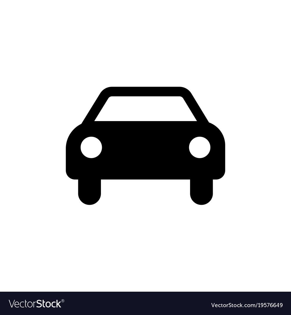 Car icon black car sign transportation icon