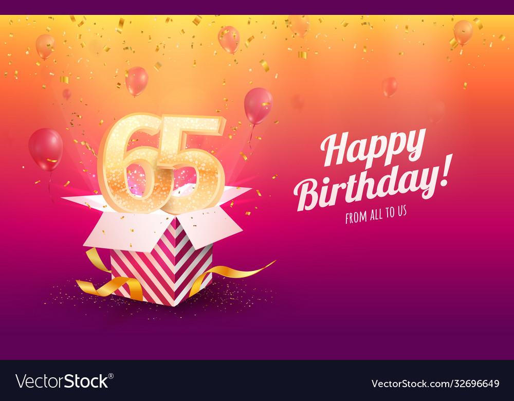 Celebrating 65th years birthday