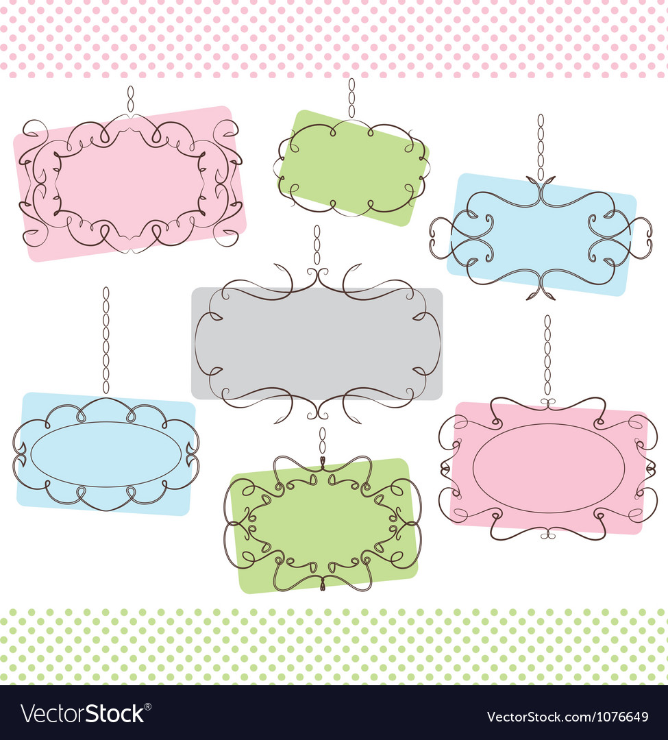 Cute frames vector image