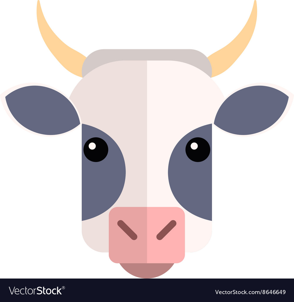 Flat design Cow Farm Animal