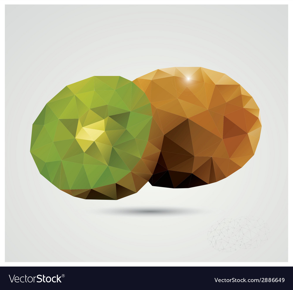 Geometric polygonal fruit triangles kiwi