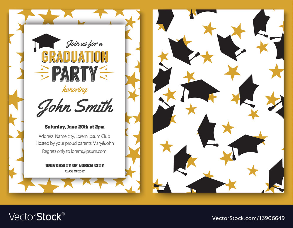 Graduation party template invitation