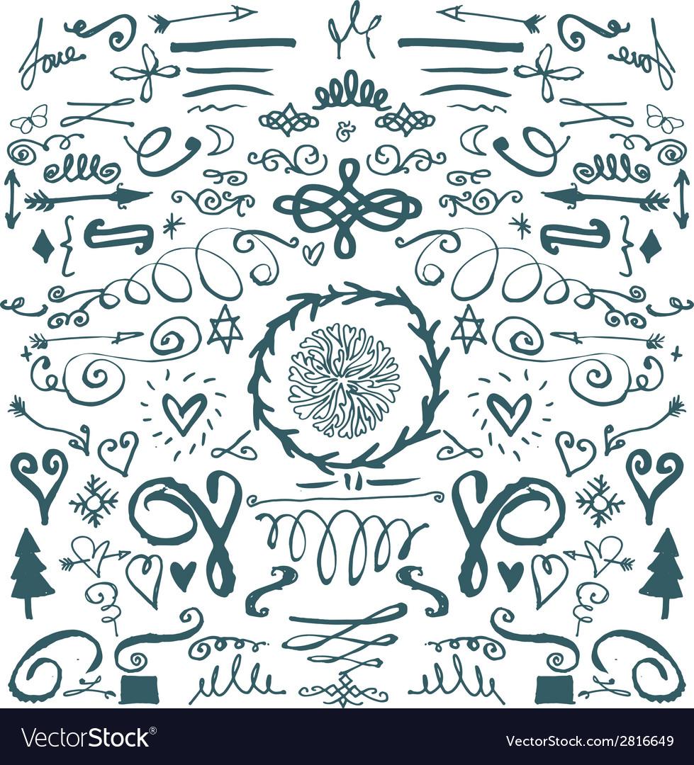 Hand drawn decorative doodles