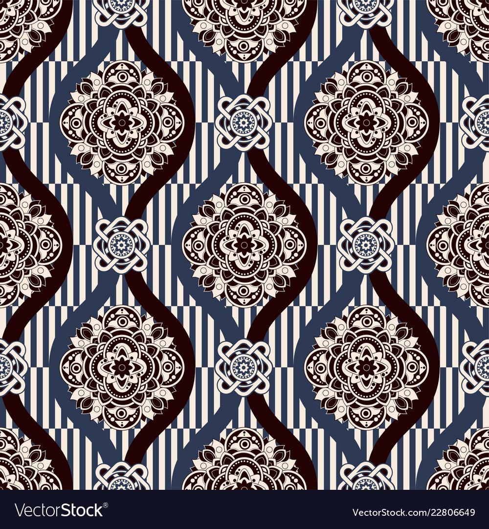 Ornamental seamless pattern ethnic
