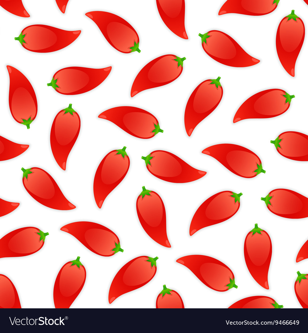 Seamless Pattern with Pepper