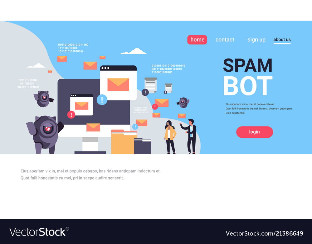 Spam bot email spamming attack robot computer