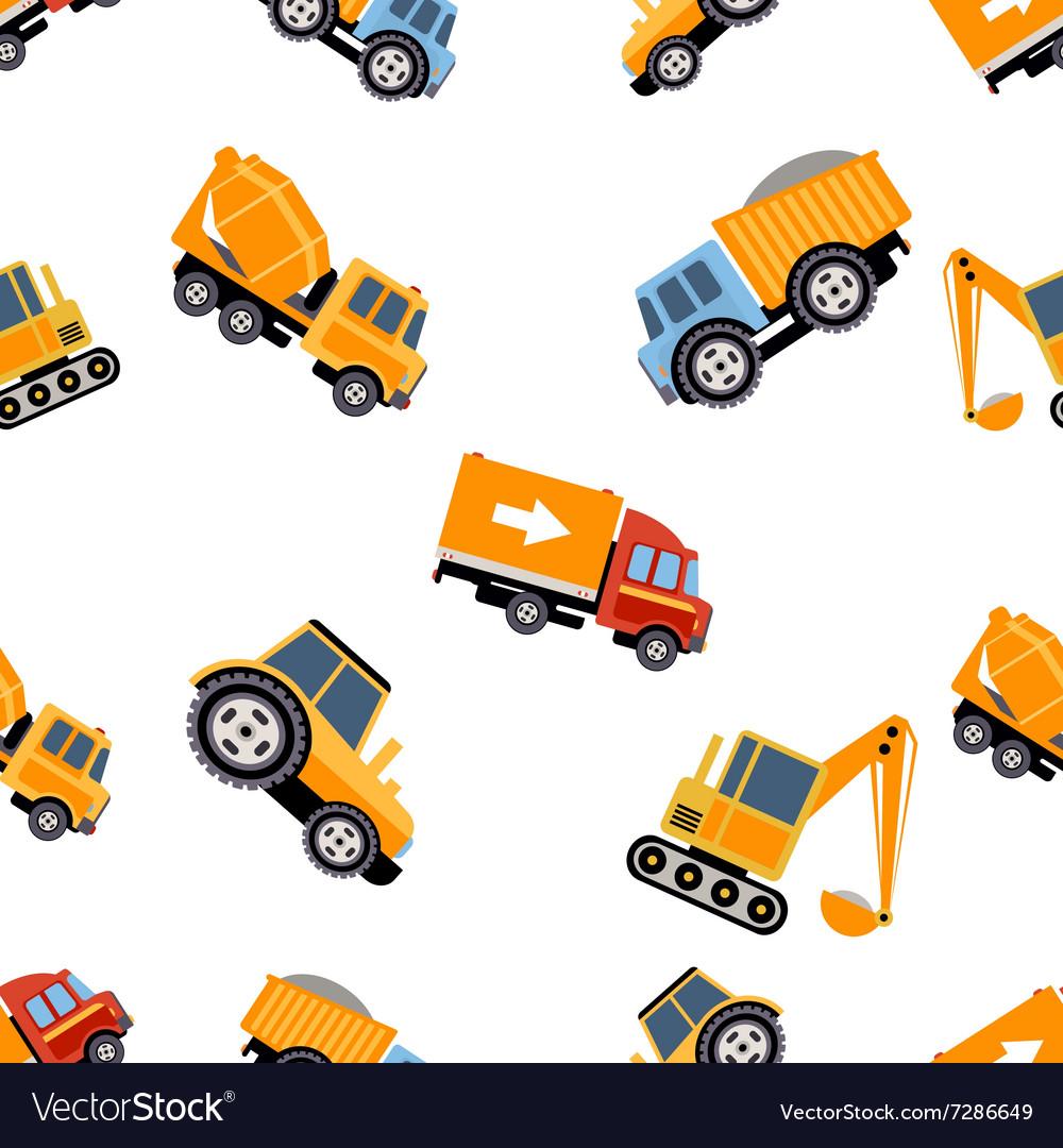 Work Trucks Seamless Pattern