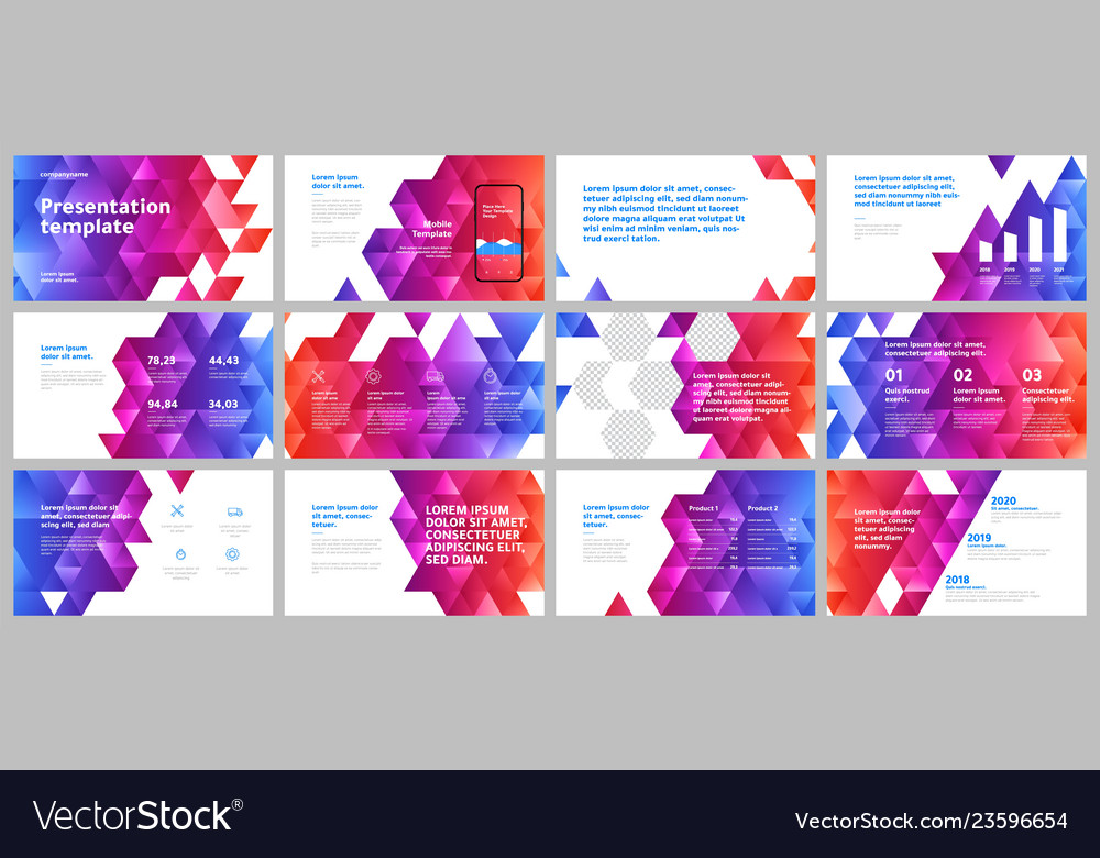 Colorful presentation templates elements