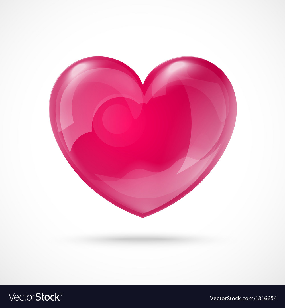 Glossy red heart valentines day background