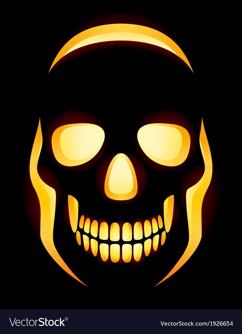 Jack O Lantern Skull Royalty Free Vector Image