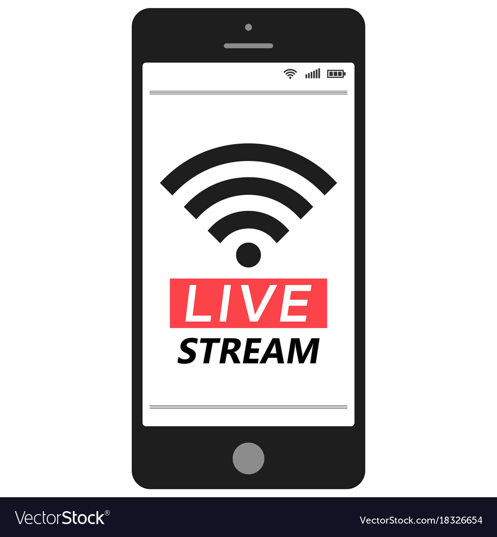 Live stream smartphone social media network