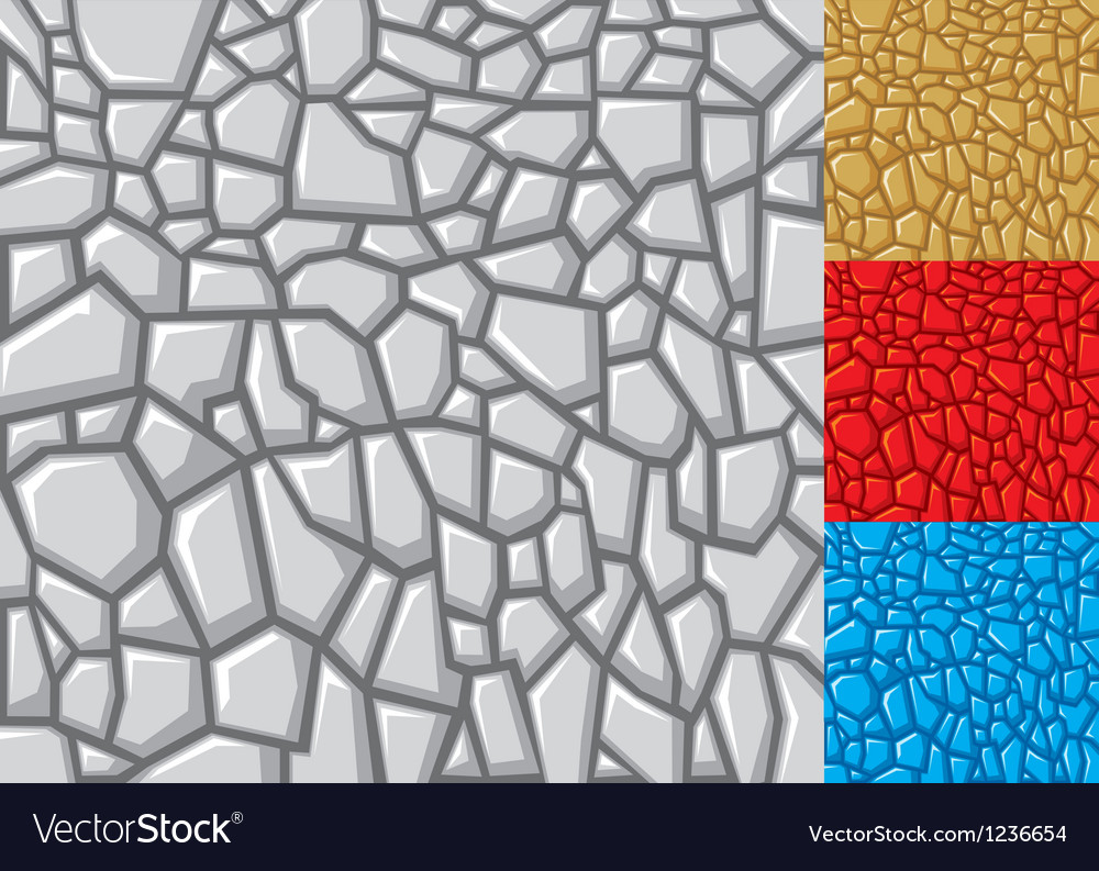 Seamless stone background in four variations