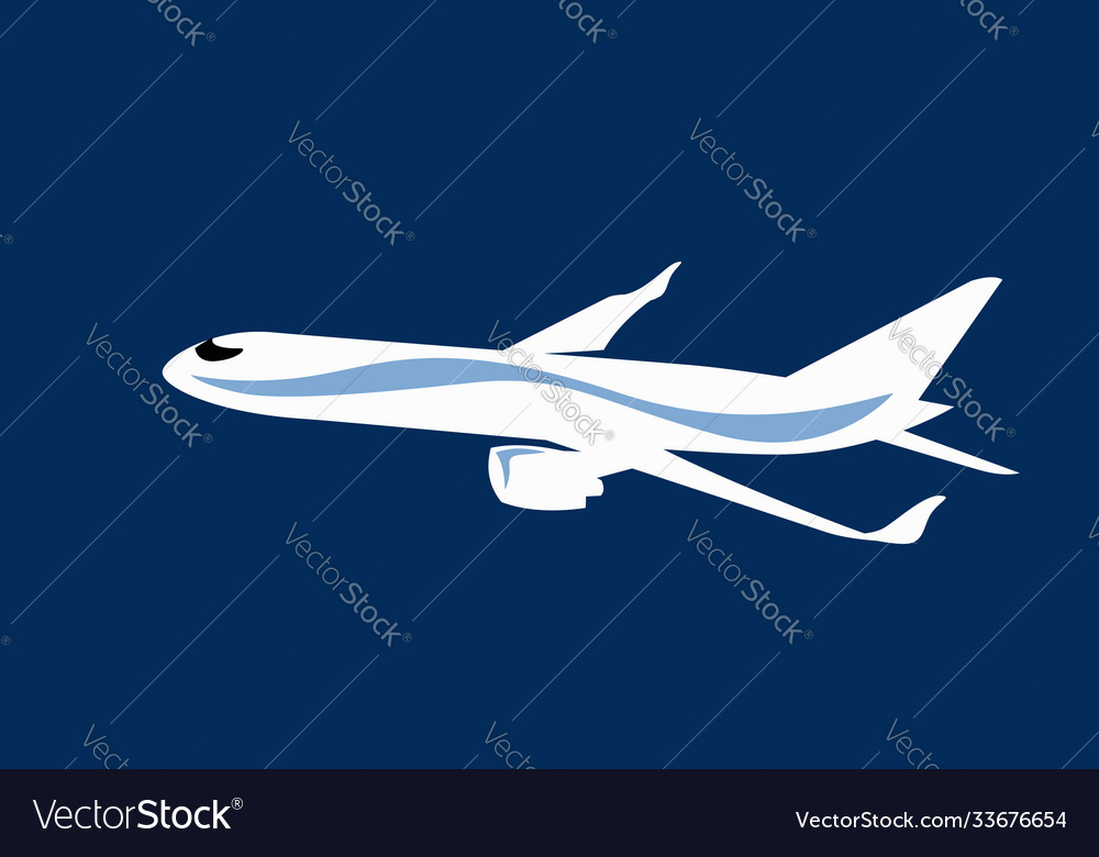 Simple drawing a commercial jet
