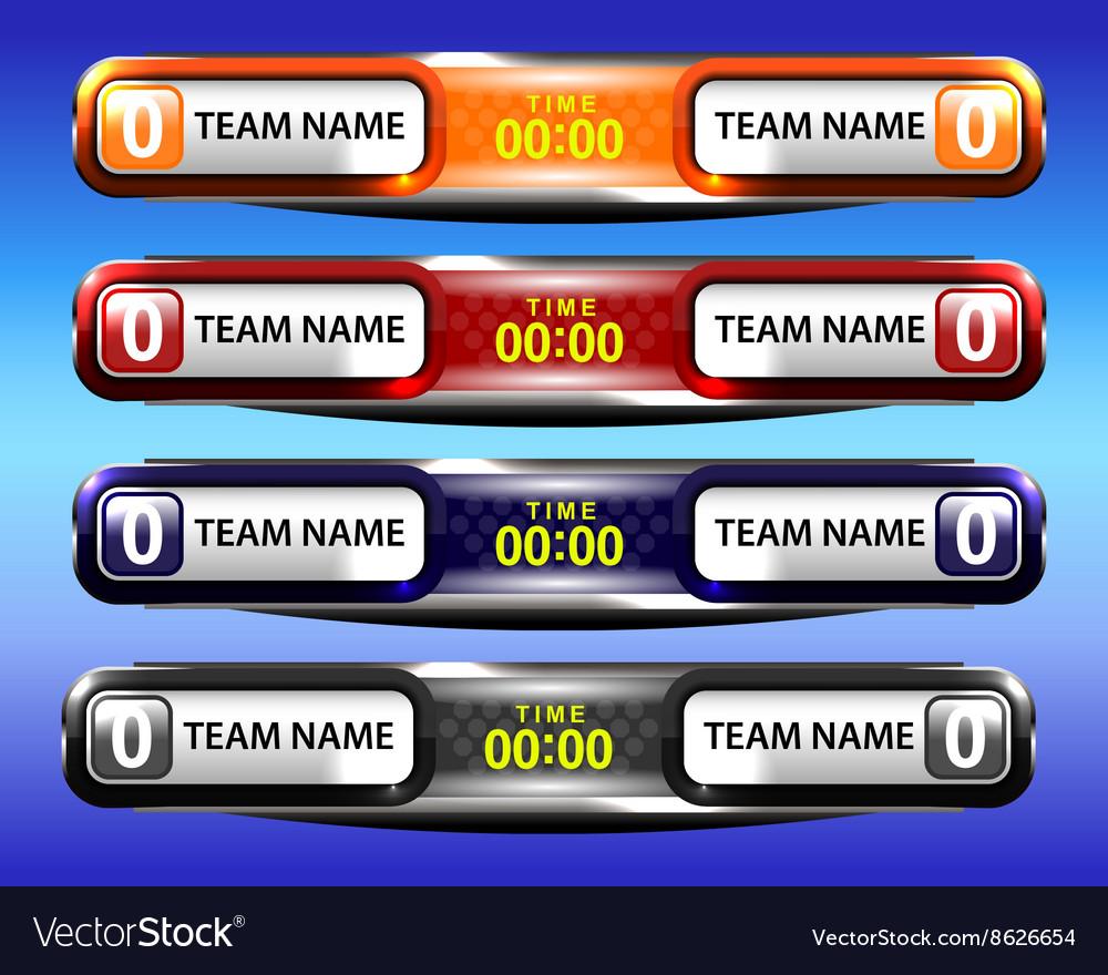 Sport scoreboard template design