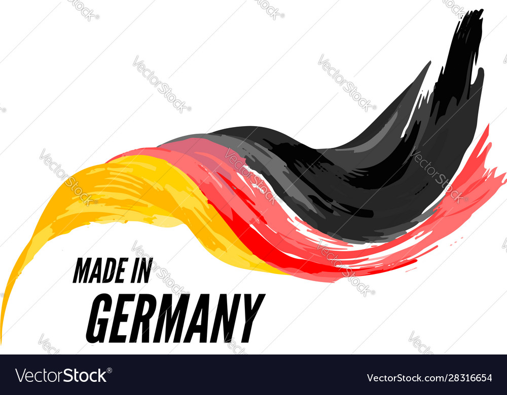 The flag germany with inscription is made