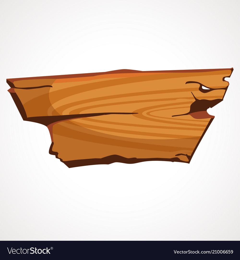 A cartoon wooden signboard