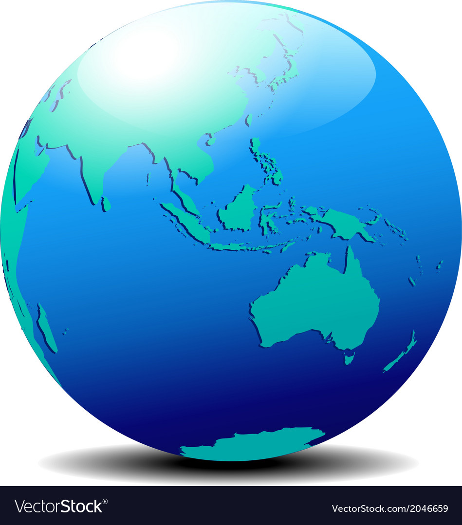Australia Map Globe.Asia Australia Far East